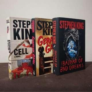Stephen King Books (Gerald's Game, Cell, Bazaar of Bad Dreams)