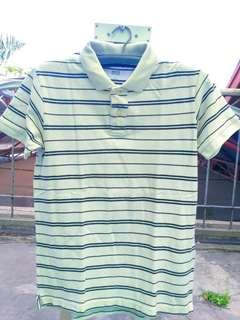 Polo stripe uniqlo size S fit M