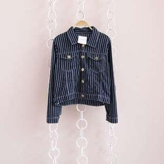 Jacket Denim Stripe