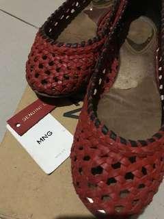 MANGO leather braided doll shoes