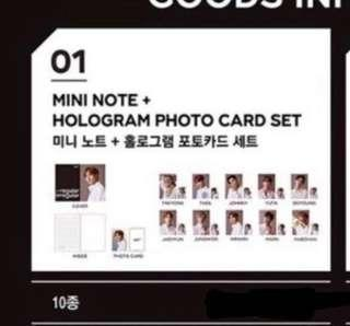 [WTS] NCT 127 Pop Up Store Mini Note + Photocard Set