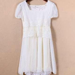 Price Down💥$50❗️Brand New Ivory Lace Dress 全新米色厘士裙