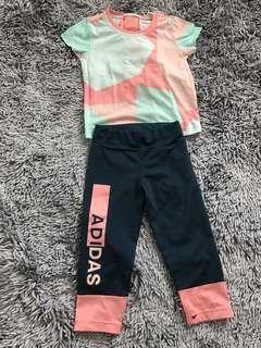 Sale set original ADIDAS sport wear for girls