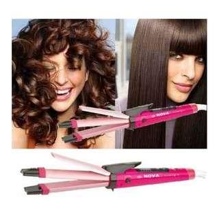 Nova Catok Rambut 2 in 1 Hair Beauty Set Curly n Straightening Catokan Rambut