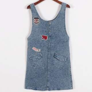 Price down💥$50❗️New Denim Dress 全新吊帶牛仔裙