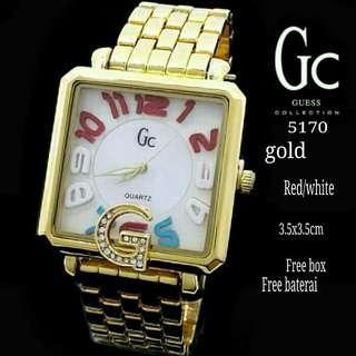 JAM TANGAN WANITA GUESS 5170 GOLD