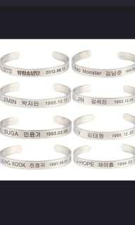 [PO] BTS c-shaped BRACELET