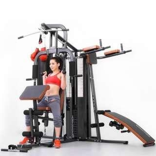 Alat Fitnes Home Gym 3 Sisi + Samsak Multyfungsi Bisa COD Antar Pasang
