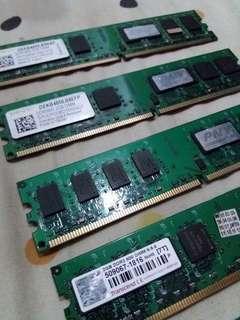 RAM/Memory [ 2pcs 1GB DDR2 ] - [ 5pcs 2GB DDR2 ]-[ 1pcs 2GB DDR3 ]