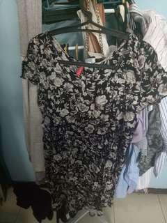 H&m dress floral pantai summer edition