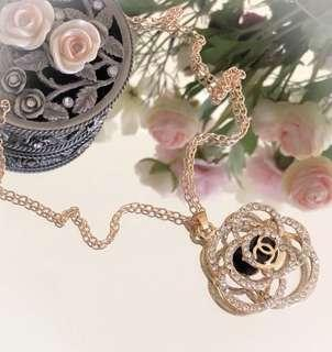 Long Camellia Fashion Boutique Necklace