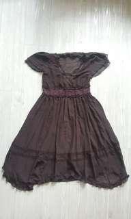 [BNWOT] Chocolate Brown Formal Girly Dress