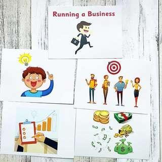 🚚 Flashcards How to Run a Business (HEGURU, SHICHIDA, RIGHT BRAIN TRAINING) BRAND NEW Flashcards for right brain training