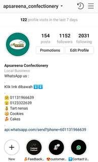 Follow us on Instagram and Facebook - Apsareena Confectionery