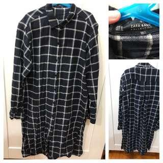 (Used)Zara Check Shirt Dress 格仔襯衫裙