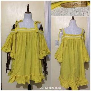 Yellow off shoulder