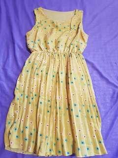 Sleeveless Yellow Dress
