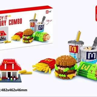 6 in 1 Mcdonald McD Nanoblock Blocks Toy Collection Game Kid Lego