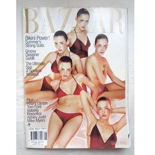 """【1997年5月號 US Harper's Bazaar】 """" BIKINI POWER"""" -懷舊時裝雜誌珍藏"""