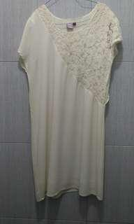 Dress semi brokat purpur M-L