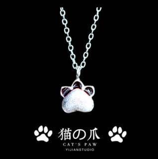 🚚 925銀貓熊掌項鏈
