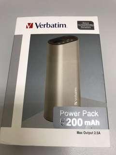 💯% New Verbatim 5200mAh Powerbank Silver
