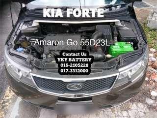 Kereta Bateri Kia Forte , Amaron Go 55D23L