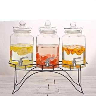 Glass Dispenser - 3 Canisters (4L/each)
