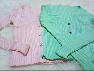 Cardigan import,  2pcs pink dan hijo