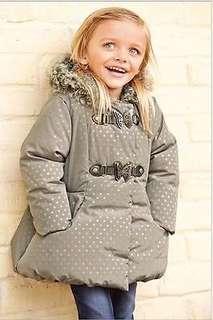 New NEXT Baby Girls Dots Warm Jacket Coat 18M-24M 全新女童保暖外套