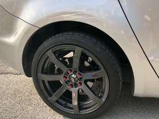 ENKEI 17inch Sport Rim, New tyres