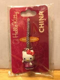 Hello Kitty Bell Charm China Cell Phone Charm Sanrio 吊飾