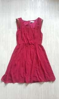 Love Bonito Maroon Party Dress