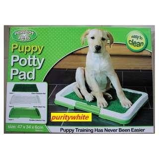 potty Trainer place with grass in lay easy to clean. grass pee pad pee tray grass pad dog training toilet