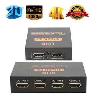 4K 1x2 HDMI Splitter (1 in 2 out) - 4K 1x4 HDMI Splitter (1 in 4 out) - 4K 1x8 HDMI Splitter (1 in 8 out) {DISTRIBUTOR PRICE}