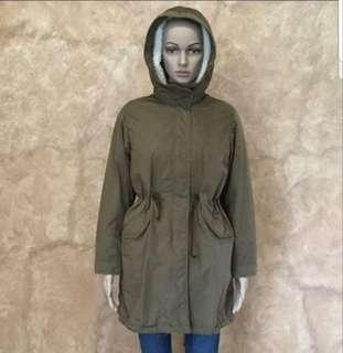 trenchcoat parka with detachable fleece for sale