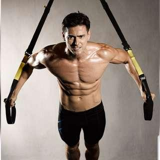 TRX 懸吊訓練帶(可以在門縫上使用)