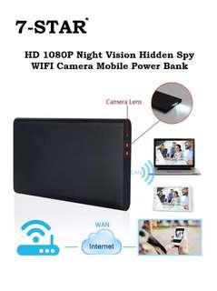 Portable Power Bank Discreet Hidden Wifi Wireless Pinhole Spy Camera - (2.0MP Full-HD 1080P, Audio Voice Recording, Rechargeable, Motion Detection, Loop Recording, APP:BVCAM) 7-STAR*
