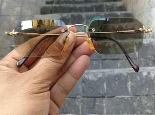 MCM Sunglasses RIMLESS Gold Plated Germany AUTHENTIC