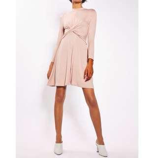 Topshop high neck skater dress