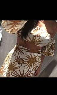 Top and skirt set