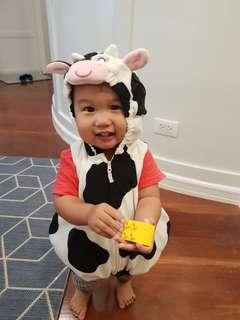 Cow costume for 6-12mos