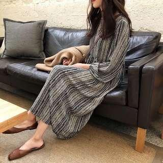 🚚 雪紡民族風洋裝 長裙 連衣裙 復古#十月女裝半價