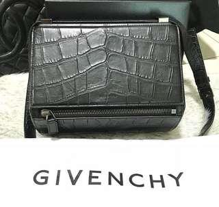 Givenchy Pandora Crocodile Embossed