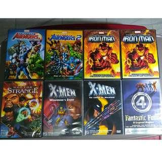 MARVEL & COMICS RELATED DVDS