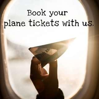 Book your plane tickets with us. 😉