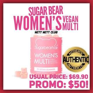 ++++ Super Effective - Sugar Bear Hair - Women's Multi! ++++   Vegan + Cruelty-Free MultiVitamin