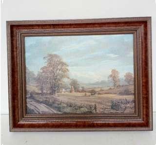 Antique Oil Painting Landscape Scenery