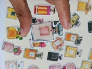 12 pcs Branded Perfume Deco Stickers