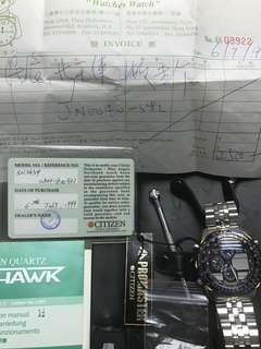 Citizen Promaster Navihawk Blue Angels jn0040-58l .All new for collective 全新.珍藏。從未配電啟動,購於1999年 長放防潮箱
